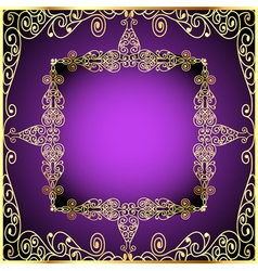 Purple background with gold ornament vector