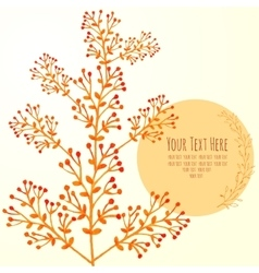 watercolor card with branches vector image