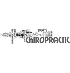 why chiropractic is a good idea text word cloud vector image vector image
