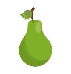 cartoon sweet pear fruit icon vector image vector image