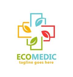 eco medical organic logo vector image vector image