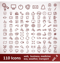 Icons Large set 110 Items vector image vector image