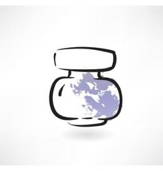 ink jar grunge icon vector image vector image
