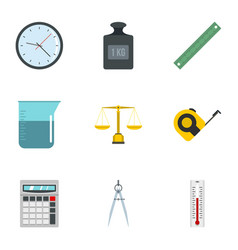 measurement icon set flat style vector image vector image