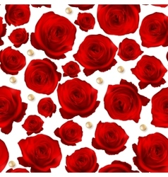 Red Rose seamless background EPS 10 vector image vector image