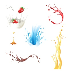 Splashes vector image vector image