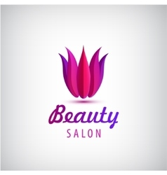 lotus logo spa and salon icon vector image vector image