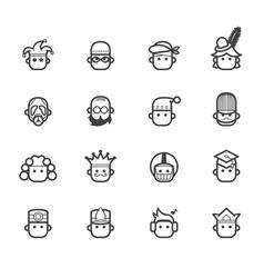 ocupation black icon set 2 on white background vector image vector image