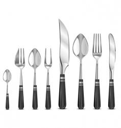 silver tableware's vector image vector image