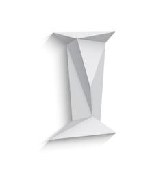 3d letter I on white vector