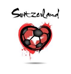 4528 - denmark heart soccer vector image