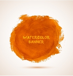 Abstract circle orange watercolor hand-drawn vector