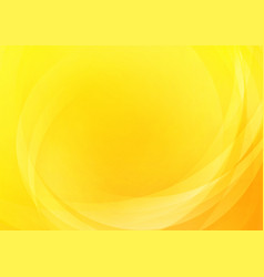 abstract curved yellow background vector image