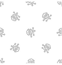 ai brain pattern seamless vector image