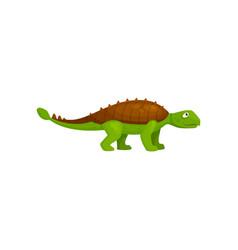 Ankylosaurus cartoon dinosaur isolated spinosaurus vector
