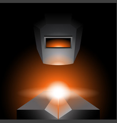 Arc welding - industrial metalwork picture vector