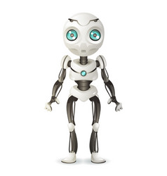artificial intelligence future mechanical mascot vector image
