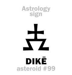 astrology asteroid dik vector image