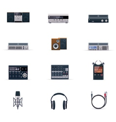 audio electronics icon set vector image