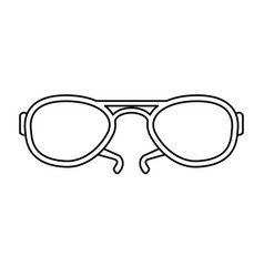 aviator sunglasses icon image vector image