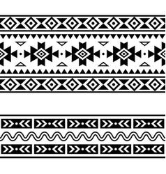 Aztec navajo geometric seamless two designs vector