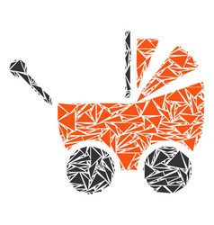 Baby carriage mosaic of triangles vector