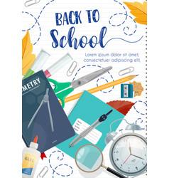 Back to school poster ink pen lettering vector