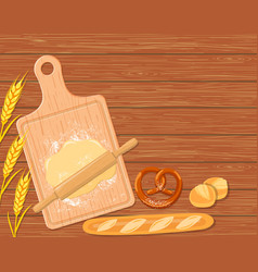 background with a cutting board vector image