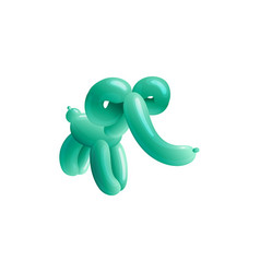 balloon elephant toy for children fun realistic vector image