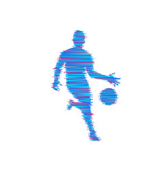 basketball player with ball sport symbol vector image