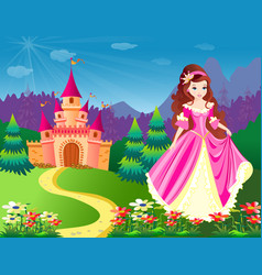 beautiful fairy princess vector image