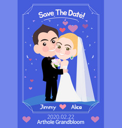 Beautiful wedding card template vector