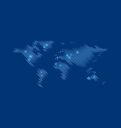 Blurred blue world map vector