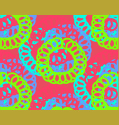 Bright circles on pink background fluorescent vector