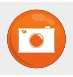Camera button icon Social media design vector