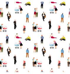 Cartoon people pattern vector