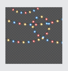 christmas lights isolated realistic design vector image