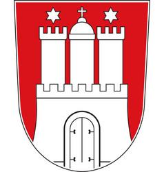 Coat of arms of hamburg germany vector