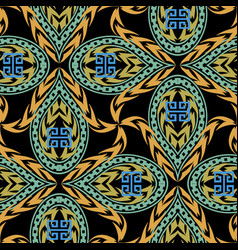 colorful abstract greek seamless pattern vector image