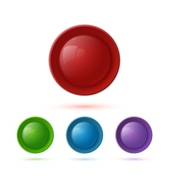 Colorful glossy button icon set vector