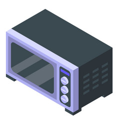 Con oven kitchen icon isometric style vector