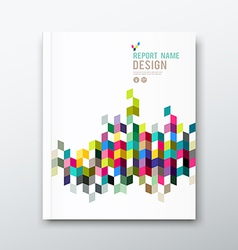 Cover annual report and brochure colorful vector