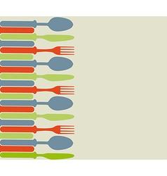 Cutlery color vector image