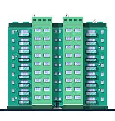 Detailed multi-storey building in flat style vector