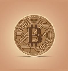 digital money bitcoins flat icon vector image