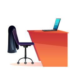 empty office workplace flat vector image
