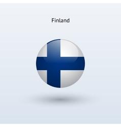 Finland round flag vector