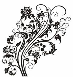 floral garnish vector image