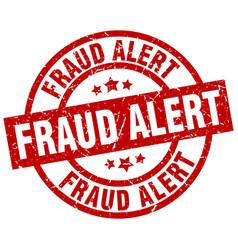 Fraud alert round red grunge stamp vector