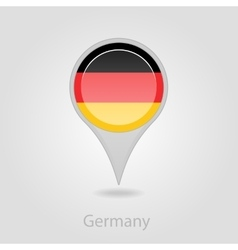 Germany flag pin map icon vector image